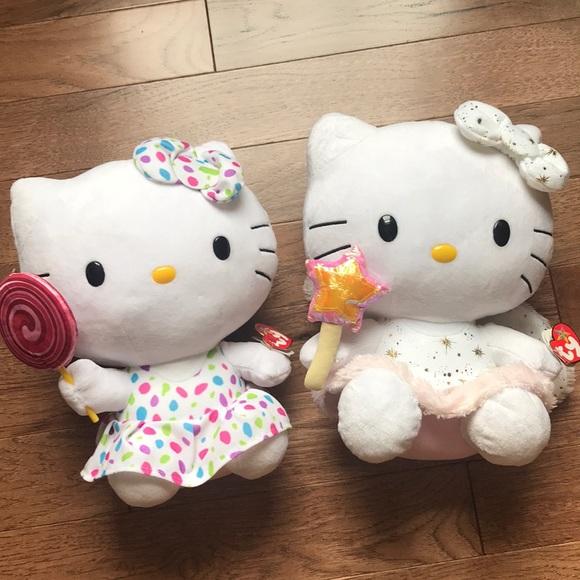 """Sanrio Other - 12"""" Hello Kitty Plush Pair"""